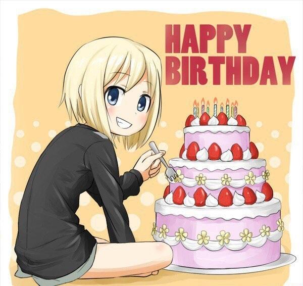 Поздравления ко дню рождения для аниме
